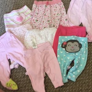 Newborn girls pants lot
